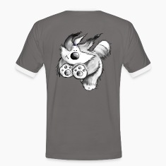 Flying Bearded Collie - T-Shirt