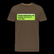T-Shirts ~ Men's Premium T-Shirt ~ Frankly Autocorrect