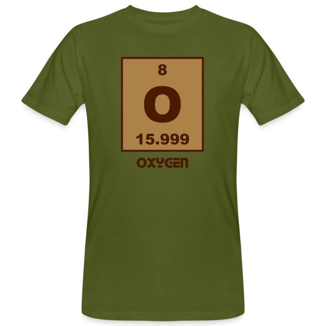 Periodic Table Words Oxygen O Element 8 Short 2 Col Shirt