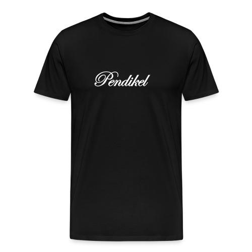 white on black classic (flock) - Männer Premium T-Shirt