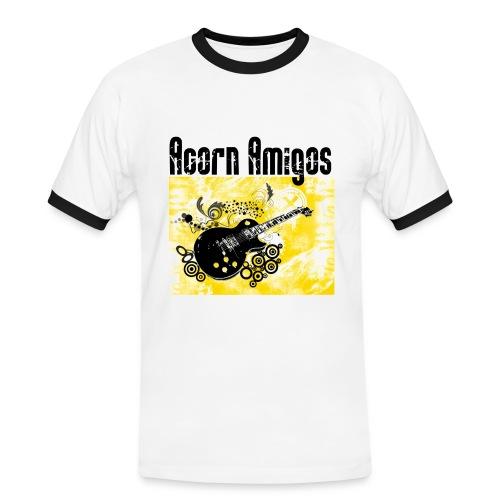 Acorn Amigos kontrast T-shirt herr vit - Kontrast-T-shirt herr