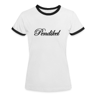 T-Shirts ~ Frauen Kontrast-T-Shirt ~ black on white girls (flock)