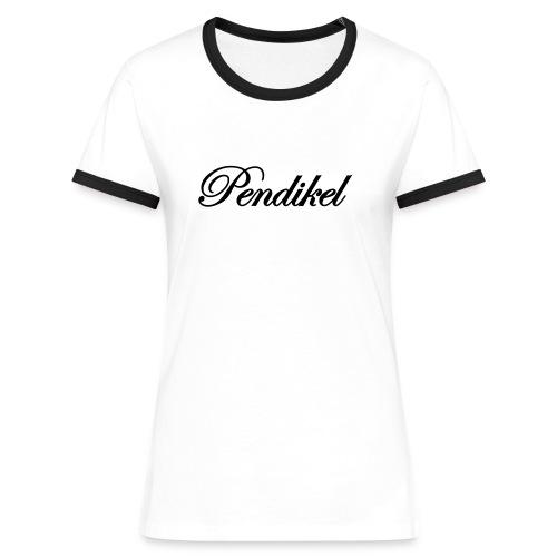 black on white girls (flock) - Frauen Kontrast-T-Shirt