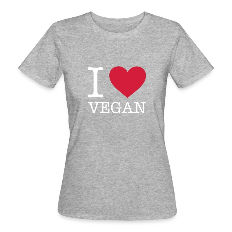 I LOVE VEGAN - Frauen Bio-T-Shirt