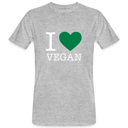 I LOVE VEGAN - Männer Bio-T-Shirt