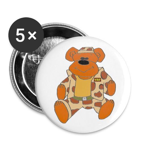 Combat Bear Button Badges - medium - Buttons medium 1.26/32 mm (5-pack)