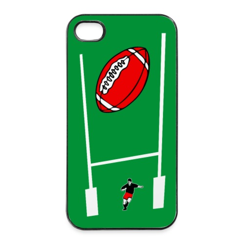 coque smartphone rugby - Coque rigide iPhone 4/4s