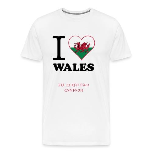 expatfood - Wales Men's T-shirt - Men's Premium T-Shirt