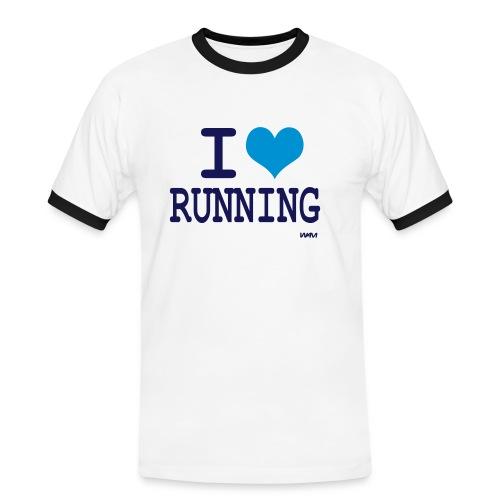 i love running - T-shirt contrasté Homme