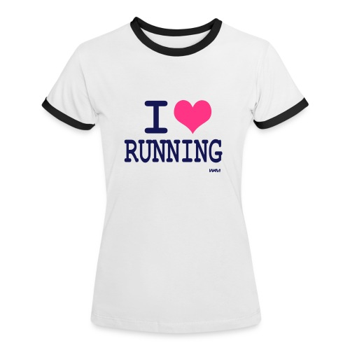 i love running - T-shirt contrasté Femme
