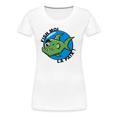 T-shirt Femme Poisson Ronchon - T-shirt Premium Femme