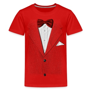 I be on my suit and tie - Teenage Premium T-Shirt