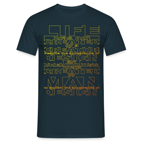 CREATIONISM was CREATED  - Men's T-Shirt