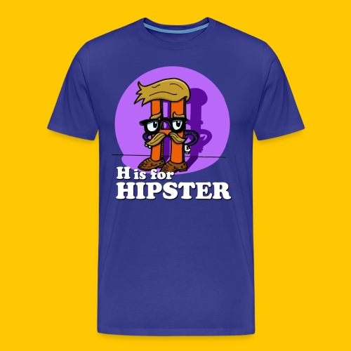 H is for Hipster - Men's Premium T-Shirt