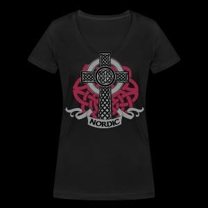 Nordic v1 - Frauen Bio-T-Shirt mit V-Ausschnitt von Stanley & Stella