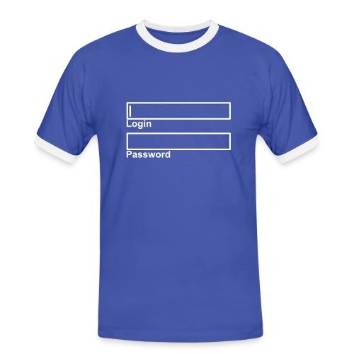 LogIn - Password - Männer Kontrast-T-Shirt
