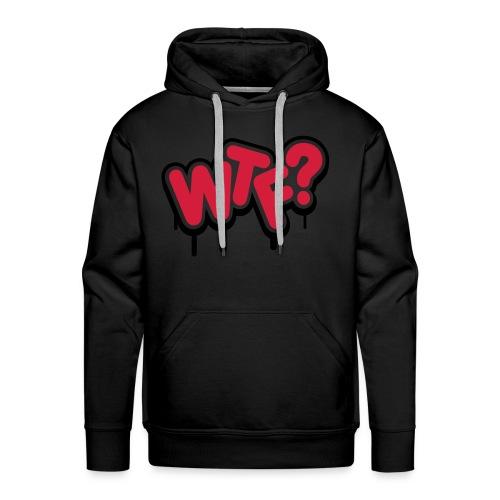pull adulte wtf - Sweat-shirt à capuche Premium pour hommes