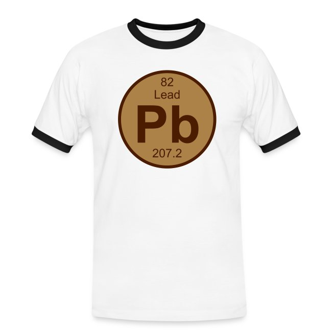 Periodic Table Words Lead Pb Element 82 Full Round 2 Col