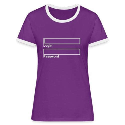 LogIn - Password - Frauen Kontrast-T-Shirt