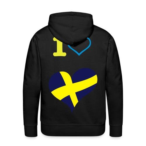 I love sweden - Premiumluvtröja herr