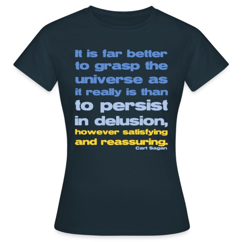Carl Sagan - Grasp the Universe  - Women's T-Shirt