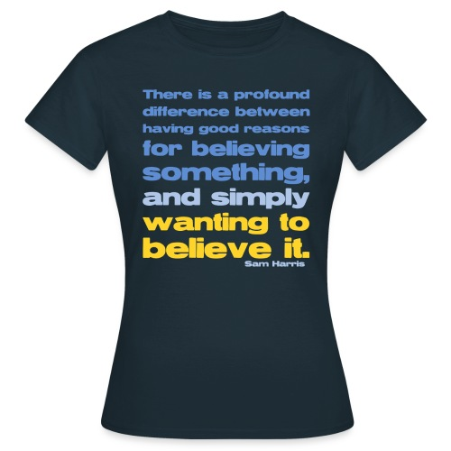 Sam Harris - Reasons For Believing  - Women's T-Shirt