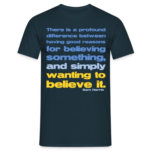 Sam Harris - Reasons For Believing  - Men's T-Shirt
