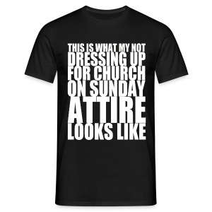 atheist attire  - Men's T-Shirt