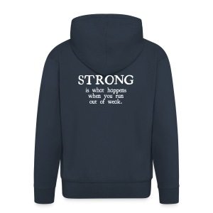 Definition of strong Hoodie - Men's Premium Hooded Jacket