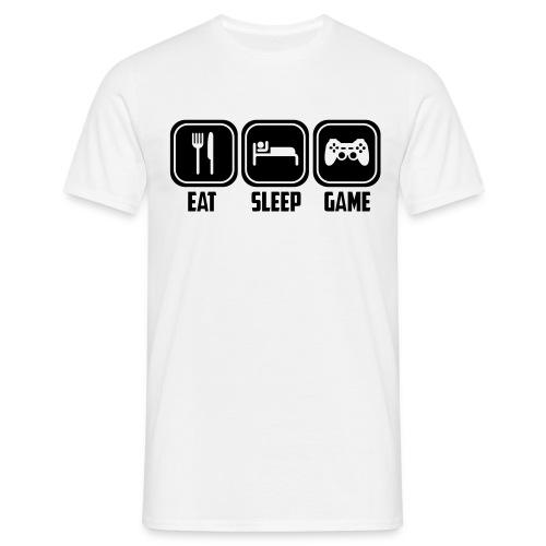 Eat, Sleep, Game - Männer T-Shirt