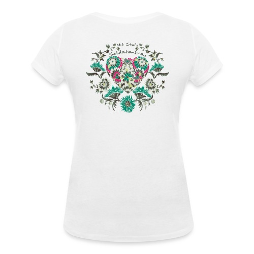 V-Ausschnitt Soldatenfrau - Frauen Bio-T-Shirt mit V-Ausschnitt von Stanley & Stella