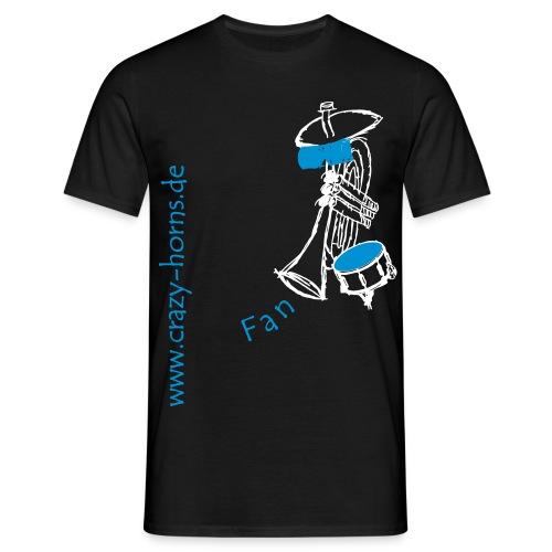Männer T-Shirt - Unser Fan-Shirt für echte Männer und Freunde der Crazy Horns. Achtung: Die Größen der T-Shirts fallen evtl. etwas größer aus. Bitte beachtet die Größen in der Maßtabelle!