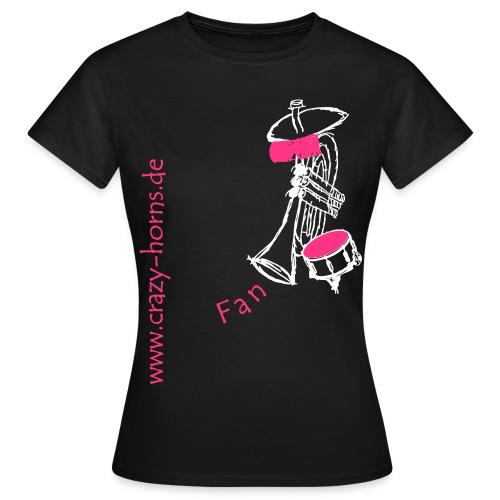 Frauen T-Shirt - Unser Fan-Shirt für klassische Frauen und Freunde der Crazy Horns. Achtung: Die Größen der T-Shirts fallen evtl. etwas kleiner aus. Bitte beachtet die Größen in der Maßtabelle!