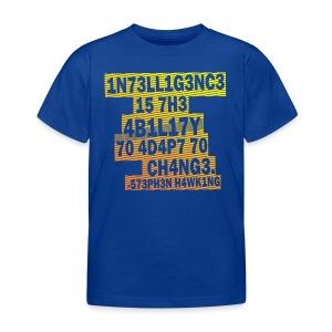 Stephen Hawking - Intelligence  - Kids' T-Shirt