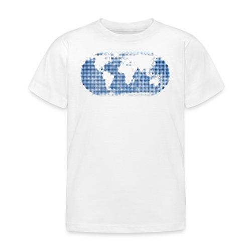 Weltkarte blau Globus T-Shirt Kinder - Kinder T-Shirt