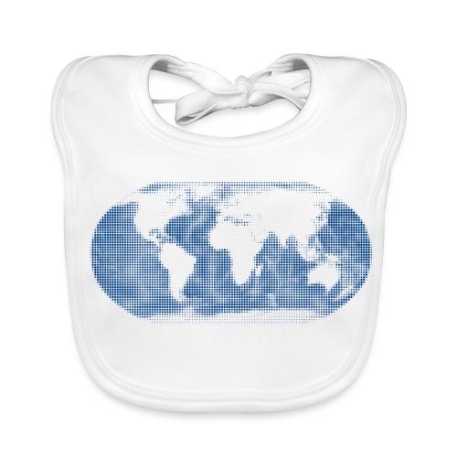 Weltkarte blau Globus Latz - Baby Bio-Lätzchen