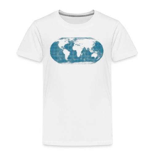 Weltkarte blau Globus kinder - Kinder Premium T-Shirt