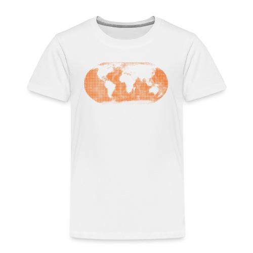 Weltkarte orange Globus Kinder - Kinder Premium T-Shirt