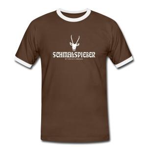 herren t-shirt hirsch geweih schmalspiesser - Männer Kontrast-T-Shirt