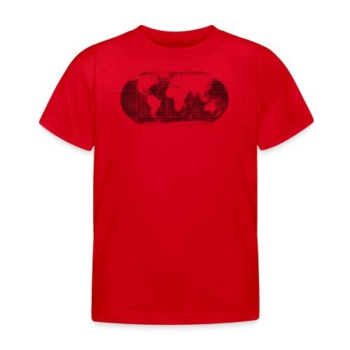 Weltkarte schwarz T-Shirt kinder - Kinder T-Shirt