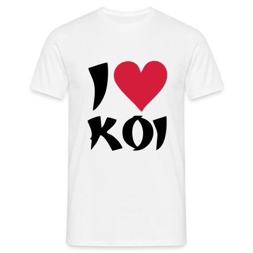 I love Koi - Männer T-Shirt