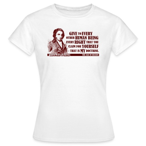 Thomas Paine - The Age of Reason  - Women's T-Shirt