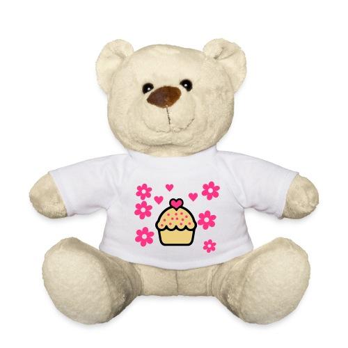 teddy with a cupcake - Teddy Bear