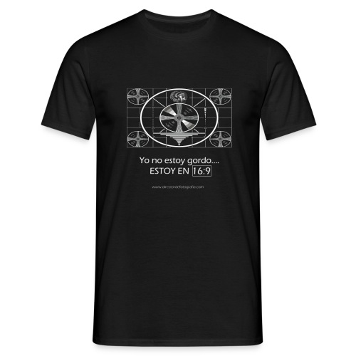 Yo no estoy gordo, estoy en 16:9 - Camiseta hombre