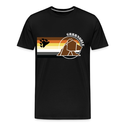 T-shirt classique Logo et patte d'ours GRRRNOBLE BEAR ASSOCIATION - T-shirt Premium Homme