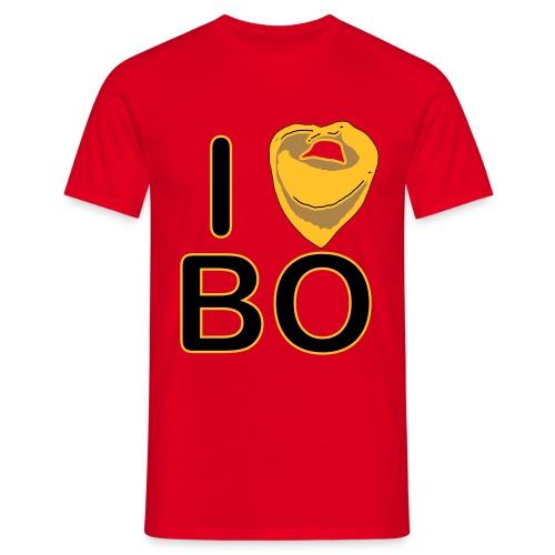maglietta uomo i love BO rosso - Maglietta da uomo