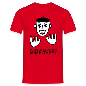 What is your favourite Mime-Type? - Men's T-Shirt