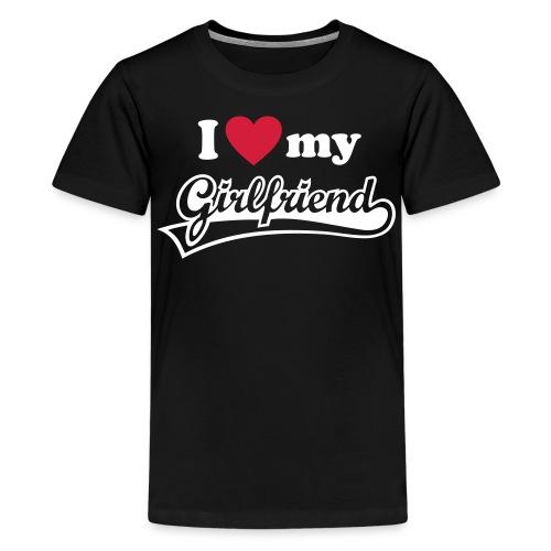 I  - Premium T-skjorte for tenåringer