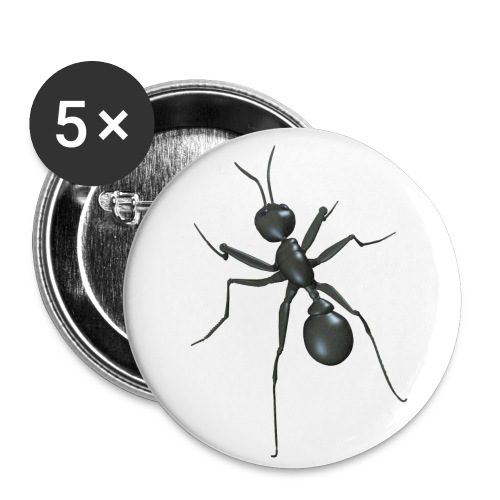 La fourmi - Lot de 5 petits badges (25 mm)