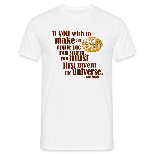 Carl Sagan - Apple Pie  - Men's T-Shirt